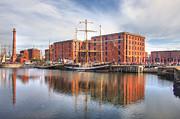 Liverpool Prints - Liverpool And The Tall Ships Print by Wobblymol Davis