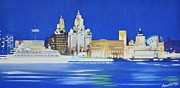 Iconic Paintings - Liverpool Pier Head by Robert Ashley