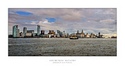 Liverpool Digital Art Prints - Liverpool Skyline Print by Alan Sherlock