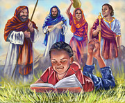 Biblical Digital Art - Living Bible by Cindy Elsharouni