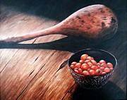 Wooden Bowl Paintings - Living History by Lauren Espinoza