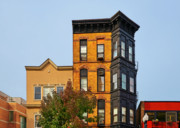 Brick Buildings Metal Prints - Living in Chicago Lincoln Park Metal Print by Christine Till