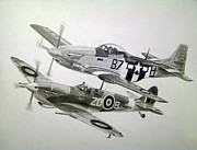 Raf Drawings Framed Prints - Living Legends Framed Print by Nathan OQuinn