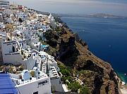 Santorini Photos - Living On The Edge by Mel Steinhauer