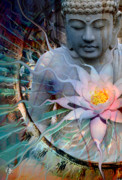 Buddhist Digital Art - Living Radiance by Christopher Beikmann