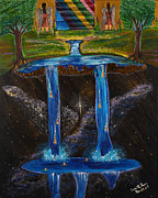Prophetic Art Painting Posters - Living Water Poster by Cassie Sears