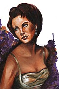 Elizabeth Taylor Paintings - Liz by Alga Washington