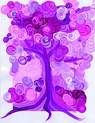 First Love Prints - Liz Dixons Tree pink by jrr Print by First Star Art