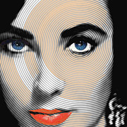 Icon  Mixed Media Originals - Liz Taylor by Tony Rubino