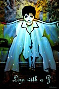 Judy Garland Framed Prints - Liza with a Z Framed Print by Barbara Chichester