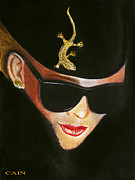 Fashion Art For Print Posters - Lizard Lady In Sunglasses Poster by William Cain