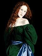 Andrew Harrison Prints - Lizzie Siddal Print by Andrew Harrison