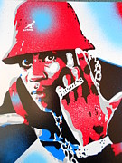 Rapper Paintings - Ll Cool J Is Hard As Hell by Leon Keay