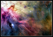 Gasses Prints - LL Ori and the Orion Nebula NASA Print by Rose Santuci-Sofranko