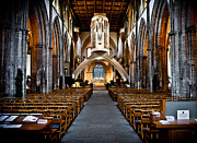 Flagstones Prints - Llandaff Cathedral Print by Mark Llewellyn