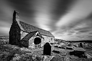 Structures Photo Framed Prints - Llangelynnin Church Framed Print by David Bowman