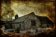 Ghostly Prints - Llangelynnin Church Print by Mal Bray