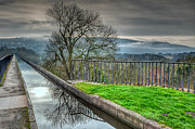 Walkway Digital Art Framed Prints - Llangollen Canal  Framed Print by Adrian Evans