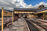 Lamp Digital Art Posters - Llangollen Railway Station Poster by Adrian Evans