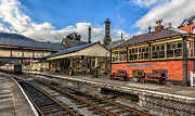 Lamp Digital Art Posters - Llangollen Station Poster by Adrian Evans