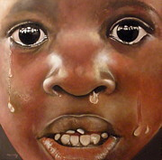 Crying Boy Paintings - Llanto by Tomas Castano