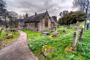 Cemetery Digital Art Prints - Llantysilio Church Print by Adrian Evans