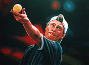 Baseball Art Painting Prints - Lleyton Hewitt 2  Print by Paul  Meijering