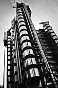 Sightseeing Posters - Lloyds building in London Poster by Elena Elisseeva