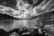 Monochrome Prints - Llynnau Mymbyr Print by David Bowman