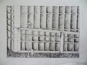 Library Drawings - LMC Library Perspective by Alexandra Goncharova