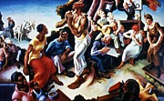 Benton Paintings - Loading  Cotton by Pg Reproductions