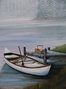 Canoe Painting Posters - Loading Up Poster by Eileen Belanger