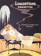 Smoking Drawings Posters - Loadstone 1920s Uk Cigarettes Smoking Poster by The Advertising Archives