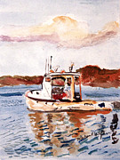 Lobster Boat Print by Michael Helfen