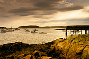 Lobster Boats Cape Porpoise Maine Print by Bob Orsillo