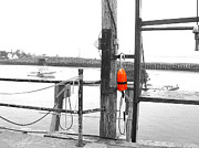 04003 Framed Prints - Lobster Buoy Framed Print by Donnie Freeman