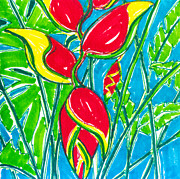 Claw Paintings - Lobster Claw Heliconia by Kelly     ZumBerge