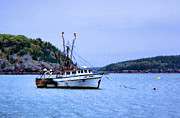 Trawler Metal Prints - Lobster Fishing in Bar Harbor Metal Print by Kristin Elmquist