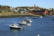 New England Village Originals - Lobster Fleet Downeast Coastal Maine by Scott Leslie