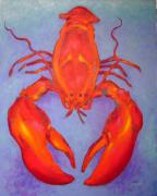 Shell Fish Framed Prints - Lobster Framed Print by John  Nolan