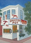 Cape Cod Paintings - Lobster Pot by David Hinchen