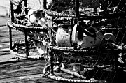 Lobster Pots Framed Prints - Lobster Pots Framed Print by Puget  Exposure