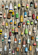 Shack Photos - Lobster Shack Buoys by John Greim