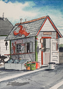 Fishing Shack Paintings - Lobster Shack by Jim Kelly