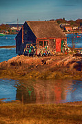 Landscape Art - Lobster shack on Bailey Island Maine by Jeff Folger