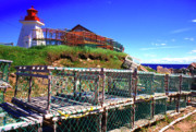 Lobster Traps Photos - Lobster Traps Neils Harbour Lightstation by Thomas R Fletcher