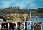 Barbara S Nickerson - Lobster Traps Off Season