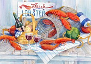 Meal Paintings - Lobsters Galore by Paul Brent