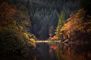 Scottish Landscape Print Framed Prints - Loch Ard in the Fall Framed Print by John Farnan