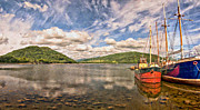 Cloudscape Digital Art - Loch Fyne Digital Painting by Antony McAulay